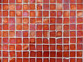 Background Pattern of Red Glass Tiles Royalty Free Stock Images