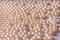 Background of pearl beads closeup. Royalty Free Stock Photo