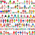 Background with people and children patterned in f Royalty Free Stock Photo