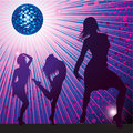 Background with people dancing in night-club Royalty Free Stock Photo