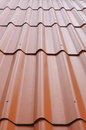 Background perspective of red roof the Stock Photography