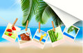 Background with photos from holidays on a seaside Royalty Free Stock Photography