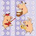 A background with pigs seamless pattern