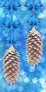 Background with pine cones Stock Images