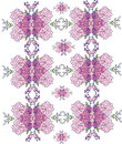 Background with pink flowers in the pattern symmetrical repetitive beautiful colorful Royalty Free Stock Photo