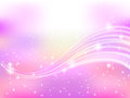 Background pink sky space star illustration of beautiful landscape Stock Photo
