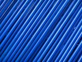 Background pipes protections blue bright and tube warehouse Royalty Free Stock Photo
