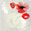 Background with poppy flowers Royalty Free Stock Images