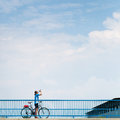 Background for poster or advertisment pertaining to cycling Royalty Free Stock Photography