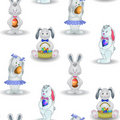Background, rabbits with Easter egg Royalty Free Stock Image