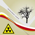 Background radiation waste Royalty Free Stock Images
