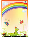 Background with rainbow Stock Image