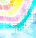 Background rainbow halfton Stock Photography