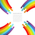 Background with rainbow lines with arrows vector illustration Stock Image