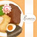 Background with ramen Stock Image