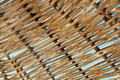 Background rattan parasol of wicker Stock Photos