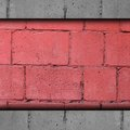 Background Red, Brick, Block W...