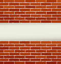 Background with red brick wall and place for text Royalty Free Stock Photos