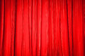 The Background Of Red Curtain