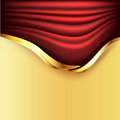 Background with red curtains Royalty Free Stock Photo
