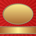 Background red with golden frames Royalty Free Stock Image