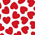 Background with red hearts Stock Photography