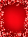 Background from red hearts eps vector file Royalty Free Stock Image