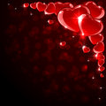 Background with red hearts valentines shine illustration Royalty Free Stock Photo