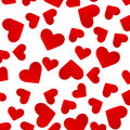 Background with red hearts vector illustration Stock Image