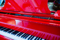 Background of red piano Royalty Free Stock Photo