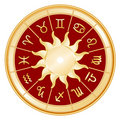 Background red signs sun zodiac Royaltyfri Fotografi