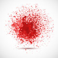 Background with red spots and sprays vector illustration Royalty Free Stock Photography