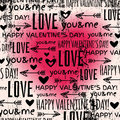 Background with red valentine heart and wishes te text vector illustration Stock Image