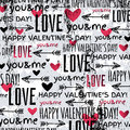 Background with red valentine heart and wishes te text vector illustration Stock Images
