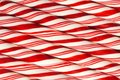 Background of red and white striped Christmas candy canes Royalty Free Stock Photo