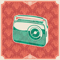 Background with retro radio. Royalty Free Stock Photos