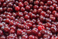 Background from a ripe cherry red Stock Photos