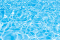 Background of rippled pattern of clean water in blue swimming po pool Royalty Free Stock Photo