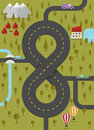 Background with road in the form of eight vector illustration Stock Image