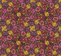 The background of roses art abstract a mosaic multicolored flowers Royalty Free Stock Photography