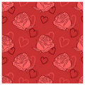 Background with roses and hearts Royalty Free Stock Photography