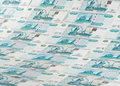 Background from roubles banknotes Stock Photos