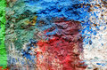 Background of rough surface wall various colors Stock Photo