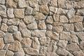 Rough wall made of natural stone Royalty Free Stock Photo
