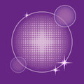 Background with round halftone in purple shades Royalty Free Stock Photo