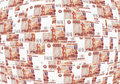 Background of Russian roubles Royalty Free Stock Photography