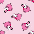 A background with scared pigs. Vector seamless pattern.