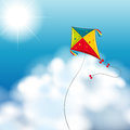 Background scene with kite in the sky Royalty Free Stock Photo