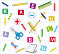 Background with school items Royalty Free Stock Photography