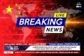 Background screen saver on breaking news. Virus coming from China. Coronavirus attacks the whole world. Breaking news release